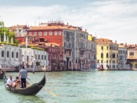 Клуб путешествий Павла Аксенова. Италия. Венеция. Гранд Канал. Sunny panorama of Grand Canal in venice. Фото scaliger - Depositphotos