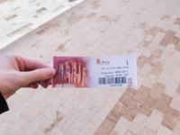 One Day Over Night Ticket to Petra. Petra is one of the New Seven Wonders of the World. Фото Robson90 - Depositphotos