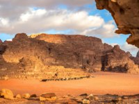 A desert tent camping in the middle of the Wadi Rum, a famous touristic destination in southern Jordan. Фото lspencer-Depositphotos