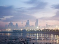 Клуб путешествий Павла Аксенова. Кувейт. Skyline of Kuwait City at dawn. Arabia, Middle East. Фото philipus - Depositphotos