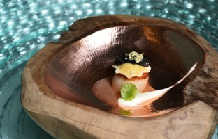Клуб путешествий Павла Аксенова. Малайзия. О. Лангкави. The St. Regis Langkawi. Общепит. Scallop with Otak Otak seafood