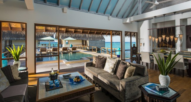 Мальдивы. Four Seasons Resort Maldives at Landaa Giraavaru. Two-bedroom Land & Ocean Sui
