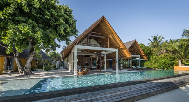 Мальдивы. Four Seasons Resort Maldives at Landaa Giraavaru.Two-bedroom Royal Beach Vill