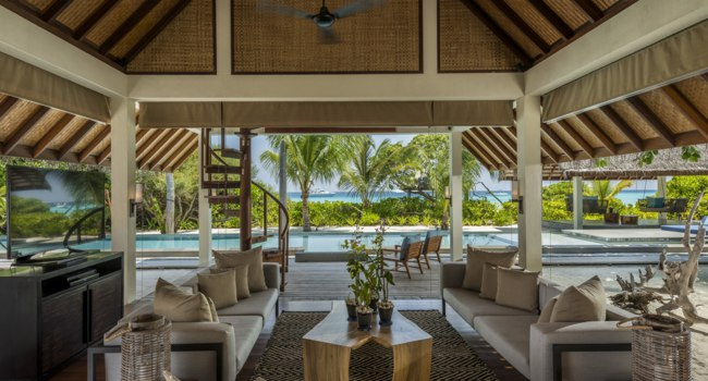 Мальдивы. Four Seasons Resort Maldives at Landaa Giraavaru.Two Bedroom Royal Beach Villa