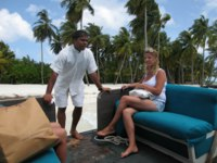Мальдивы. Gili Lankanfushi Resort, Maldives (ex. Soneva Gili by Six Senses). Лодка для Робинзонов. Фото Павла Аксенова