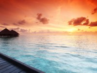 Мальдивы. Maldives Sunset. Yellowj - shutterstock