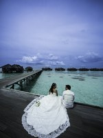 Мальдивы. Gili Lankanfushi Resort, Maldives. Wedding Couple