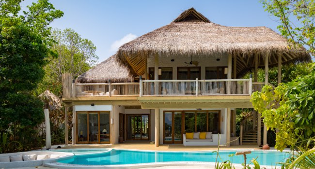 Клуб путешествий Павла Аксенова. Мальдивы. Soneva Fushi. Soneva Fushi Villa Suite 3 Bedroom with Pool (V.5)_Exterior by Martin Whiteley