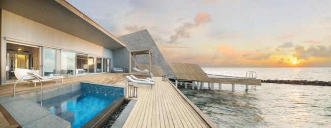 Мальдивы. The St. Regis Maldives Vommuli Resort. John Jacob Astor Estate - Suite Terrace