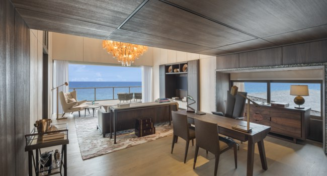 Мальдивы. The St. Regis Maldives Vommuli. John Jacob Astor Estate-Master Suite Living Study Rooms