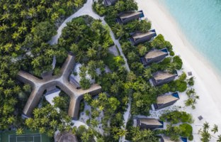 Мальдивы. The St. Regis Maldives Vommuli Resort. Vommuli House and Beach Villas - Aerial