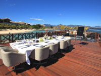 Маврикий. InterContinental Mauritius Resort Balaclava Fort. Meeting on the deck