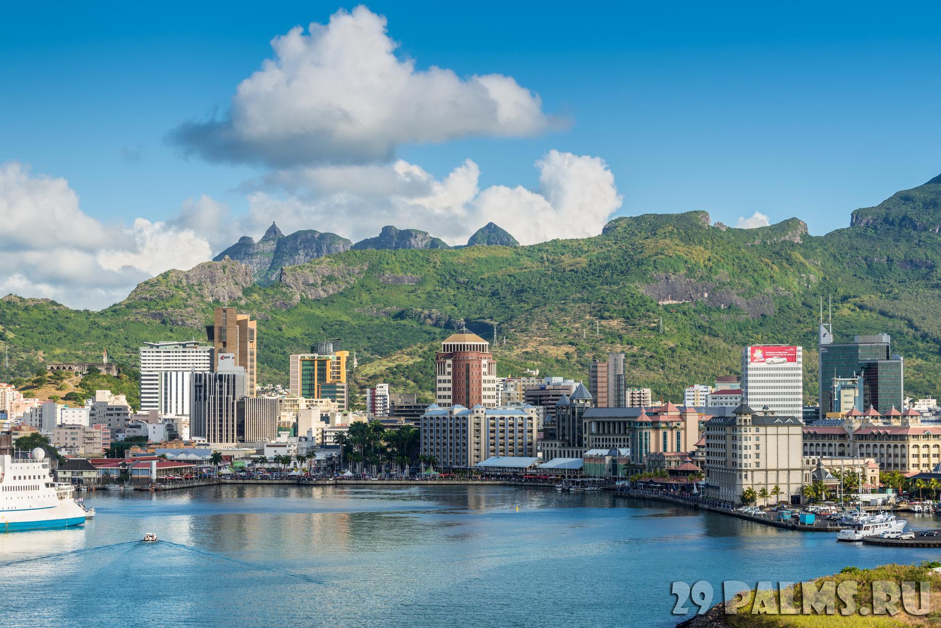картинка фотография курорта Порт-Луи на Маврикии