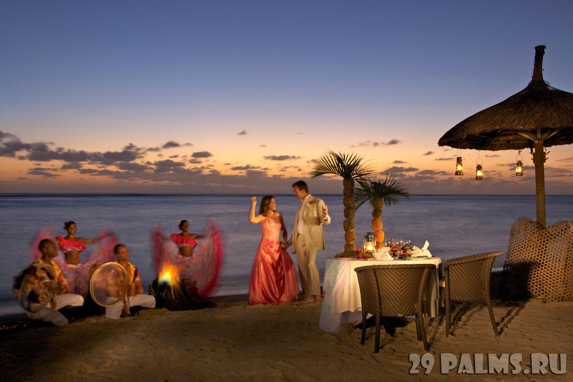 Sugar beach club wedding