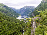 Блог Павла Аксенова. Норвегия. The end of Geiranger Fjord. Фото Checco - Depositphotos