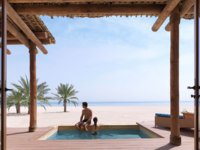 ОАЭ. Абу-Даби. О. Сир Бани Яс. Anantara Sir Bani Yas Island Al Sahel Villas Resort. One Bedroom Pool Beach Villa Lifestyle