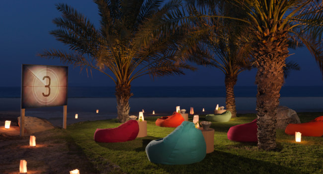 ОАЭ. Абу-Даби. О. Сир Бани Яс. Anantara Sir Bani Yas Island Al Sahel Villas ResortMovie Night