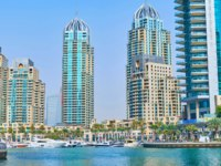 Panorama of Dubai Marina, Al Murjan and Al Mesk Towers, facing the yacht club in Dubai. Фото efesenko - Deposit