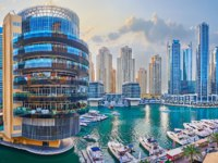 ОАЭ. Дубай. Район Дубай Марина. The skyline of Dubai Marina in Dubai. Фото efesenko - Depositphotos