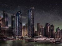 ОАЭ. Дубай. Район Дубай Марина. Luxury living district of Dubai Marina in Dubai. Фото joanvadell - Depositphotos