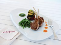 Клуб путешествий Павла Аксенова. Jumeirah Beach Hotel. Waterfront. Thyme marinated rack of lamb with rocket and salsa