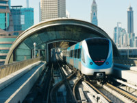 ОАЭ. Дубай. Subway tracks in the united arab emirates. Фото Observer - Depositphotos