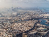 ОАЭ. Дубай. Канал Крик. Aerial view of Dubai, UAE. Фото mathes - Depositphotos