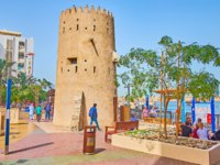 The medieval clay watchtower, preserved at the bank of Dubai Creek of Bur Dubai district in Dubai. Фото efesenko - Depositphotos