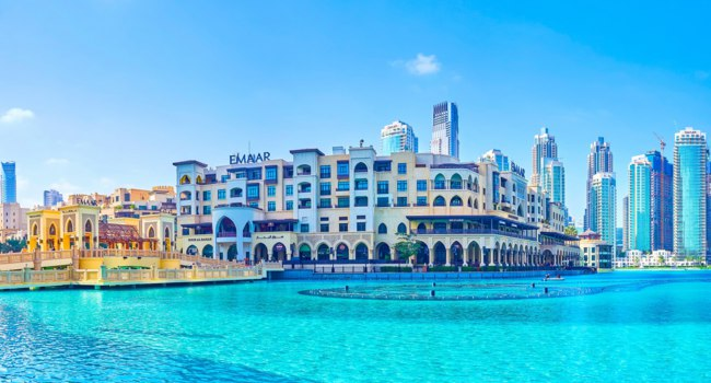 ОАЭ. Дубай. Downtown Dubai district in Dubai. Фото efesenko - Depositphotos