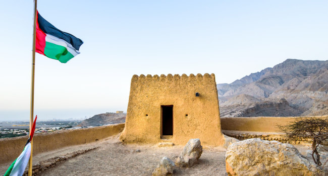 Клуб путешествий Павла Аксенова. ОАЭ. Рас-эль-Хайма. Dhayah Fort in north Ras Al Khaimah United Arab Emirates. Фото CreativeFamily - Depositphotos