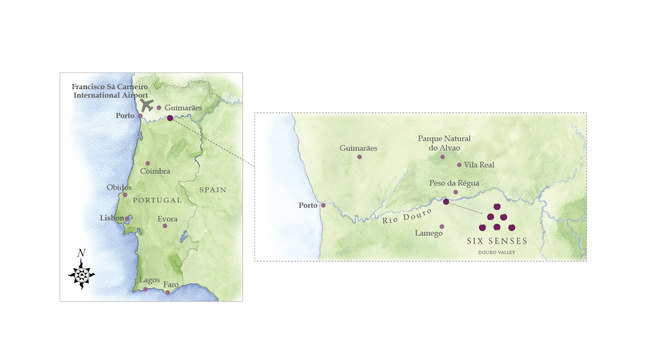 Клуб путешествий Павла Аксенова. Португалия.  Six Senses Douro Valley. Location Map