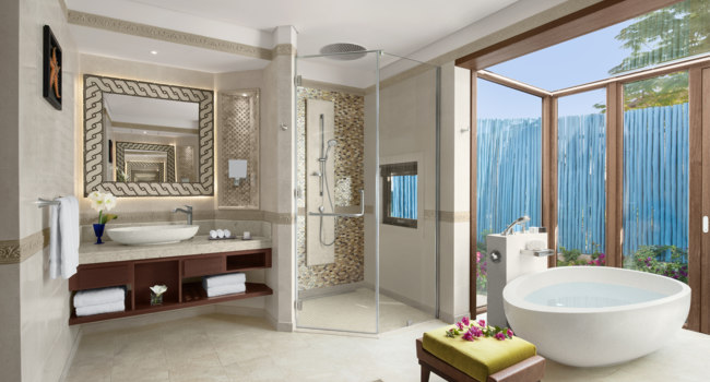 Катар. Banana Island Resort Doha by Anantara. Anantara Sea View Suite. Bathroom