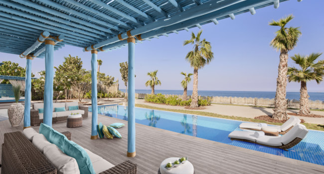 Катар. Banana Island Resort Doha by Anantara. Three Bedroom Sea View Pool Villa