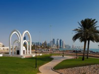 Клуб путешествий Павла Аксенова. Катар. Доха. Doha, Qatar Recreational parks are commonplace in the capital. Фото Sophie_James - Depositphotos