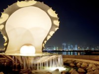 Клуб путешествий Павла Аксенова. Катар. Доха. Жемчужина Катара (Pearl Island). Pearl and Oyster Fountain - Doha Corniche