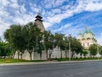 Астрахань. Kremlin in Astrakhan. Wooden Kremlin. Stone fortification walls and eight towers were erected in the period of 1582 - 1589. Фото ElenaOdareeva - Dep
