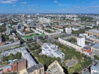 Россия. Панорама Екатеринбурга. High angle view of the north-eastern side of Yekaterinburg, Russia. Фото markovskiy - Depositphotos