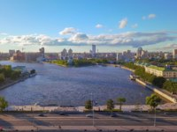 Екатеринбург. Panorama of the city pond of the city of Yekaterinburg. Panoramic view of the historical part of the city. Ekaterinburg. Фото MaykovNikita - Depositphotos