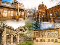 Россия. Архитектура Екатеринбурга. The monuments of architecture. Collage. Ekaterinburg. Russia. Фото vlerijse - Depositphotos
