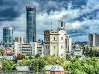 Россия. Архитектура Екатеринбурга. Beautiful summer city landscape. Ekaterinburg. Russia. Фото vlerijse - Depositphotos