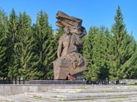 Monument to the Soviet intelligence agent and partisan Nikolay Kuznetsov. The monument by sculptor V.Egorov was unveiled on May 7, 1985. Фото markovskiy-Deposit