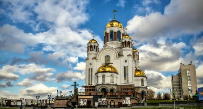 Россия. Екатеринбург. Храм на Крови. Church on Blood in Honour of All Saints Resplendent in the Russian Land. Фото Fraskini - Depositphotos
