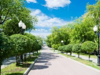 Россия. Парки Екатеринбурга. Green city park in Yekaterinburg. Russia. Фото valphoto - Depositphotos