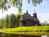 Золотое кольцо России. Музей-заповедник Костромская слобода. Wooden church in the city of Kostroma, the museum of wooden architecture. andrei-anpo-D