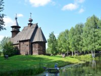 Костромская слобода. The Museum of wooden architecture Kostroma's sloboda, the all-merciful Saviour Church of the village Fominskoe, 18th century. irinabal18-D