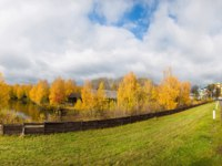 Золотое кольцо России. Кострома. The Ipatiev Monastery in autumn panorama, Kostroma, Russia. Фото Dislentev - Depositphotos