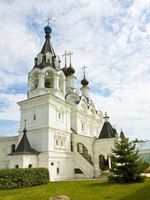 Золотое кольцо России. Муром. Annunciation cathedral of Annunciation orthodox monastery in Murom, Russia. Фото Afonskaya - Depositphotos