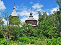 Муром. Свято-Троицкий монастырь. Ancient wooden church of Sergey Radonezhsky in Holy Trinity Monastery (18 century) of Murom city Фото viknik-Deposit