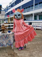 Мышкин. An actress dressed as a mouse greets tourists and pose for photos in Myshkin town, popular touristic landmark. Фото Nevakalina - Depositphotos