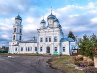 Переславль-Залесский. Holy Trinity Church. I was wooden since 1654, it is reconstructed in a stone in 1855. Pereslavl-Zalessky, Russia. Фото mosprofs - Depositphotos